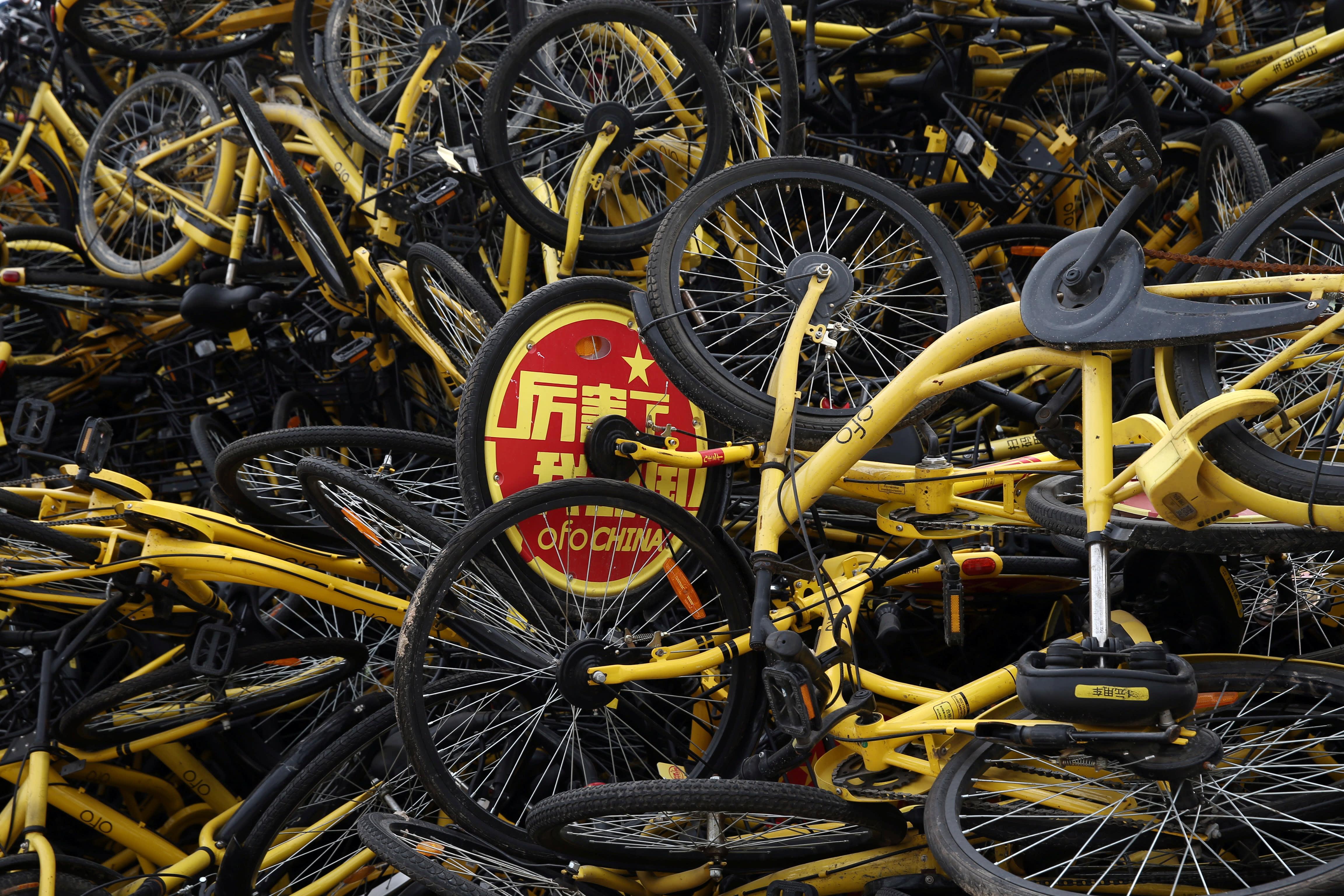 Bắc Kinh loại bỏ 400.000 xe đạp 'chia sẻ' trong nửa đầu năm