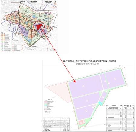 Điều chỉnh dự án xây dựng và kinh doanh kết cấu hạ tầng KCN Minh Quang