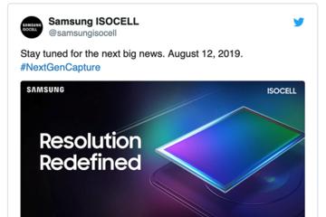 Samsung ra mắt cảm biến camera 108 MP vào ngày 12/8