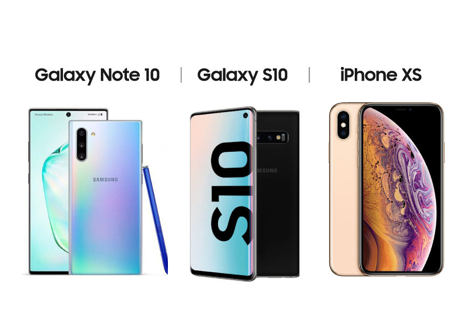 So sánh Galaxy Note 10 với Galaxy S10 và iPhone XS