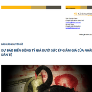 KBSV: Dự báo biến động tỷ giá dưới sức ép giảm giá của nhân dân tệ