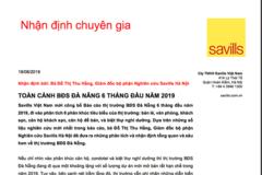Savills Việt Nam: Tổng quan thị trường BĐS Đà Nẵng 6 tháng đầu năm