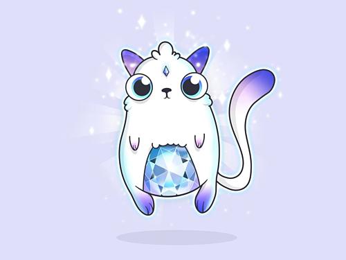Một con mèo ảo độc nhất trên nền tảng CryptoKitties. Ảnh: CryptoKitties
