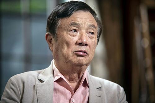 Nhà sáng lập Huawei Nhậm Chính Phi. Ảnh: Bloomberg