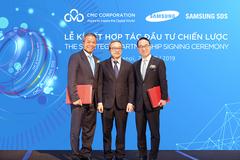 CMC bán 25 triệu cổ phiếu cho Samsung SDS giá 34.000 đồng/cp