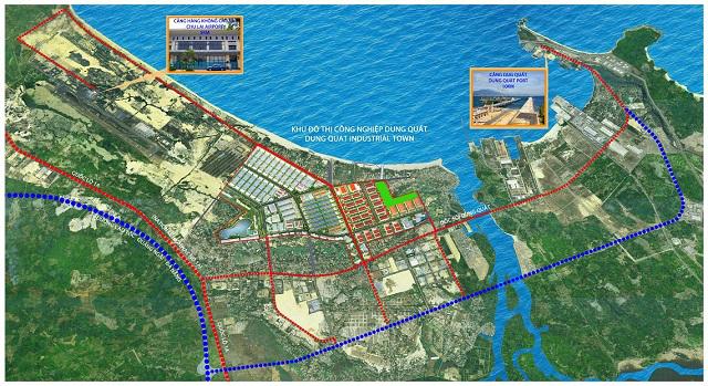Khu đô thị công nghiệp Dung Quất 3 năm chưa xong giải phóng mặt bằng