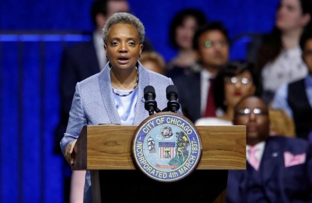 Thị trưởng thành phố Chicago, bà Lori Lightfoot. Ảnh: Reuters.
