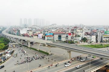 Cận cảnh tuyến đường sắt trên cao Nhổn - ga Hà Nội sau 2 năm chậm tiến độ