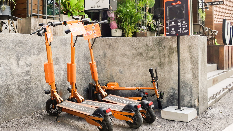 Nở rộ dịch vụ chia sẻ xe scooter điện tại Thái Lan