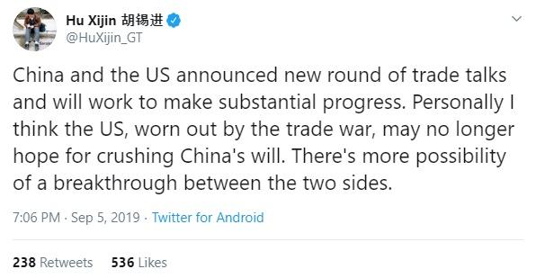 Hu Xijin dự báo