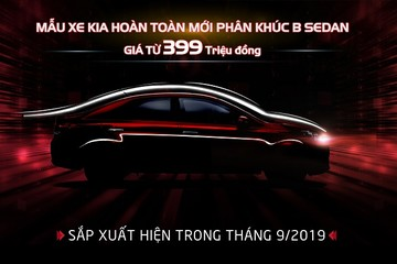 Kia Việt Nam nhận đặt hàng mẫu xe sedan Soluto, giá từ 399 triệu đồng