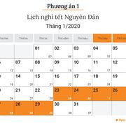 Chốt đề xuất lịch nghỉ Tết Nguyên đán Canh Tý