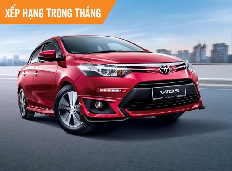 Top 10 ôtô bán chạy tháng 8: Toyota Vios dẫn đầu, Mitsubishi Xpander tăng 5 bậc