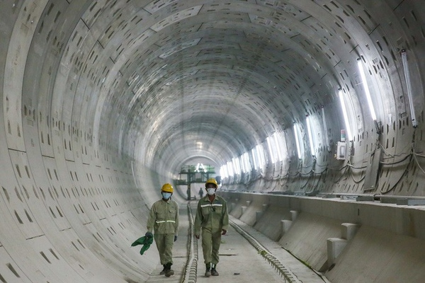 Diện mạo đường hầm Metro số 1 xuyên lòng đất tại trung tâm TP HCM