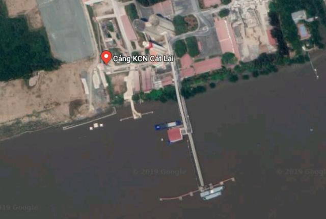 Cảng Khu công nghiệp Cát Lái nằm trên địa bàn phường Thạnh Mỹ Lợi (quận 2). Ảnh: Google maps
