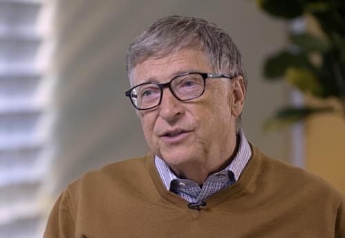 Đồng sáng lập Microsoft Bill Gates trong cuộc phỏng vấn với Bloomberg. Ảnh: Bloomberg