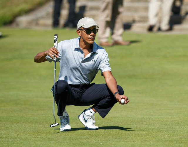 Đặt lên bàn cân 2 vị Tổng thống nổi tiếng mê golf nhất Nhà Trắng: Người tự học, người bị chỉ trích dữ dội - Ảnh 1.