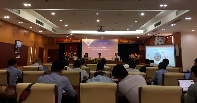 Quang cảnh buổi nghị xúc tiến nhà đầu tư của PCC1. Ảnh: Bình An