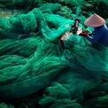 """<p class=""""Normal""""> <strong>'May lưới' - Trần Tuấn Việt, Phú Yên, Việt Nam</strong></p> <p class=""""Normal""""> Khi trữ lượng cá giảm, các phương pháp đánh bắt càng trở nên cực đoan. Đánh bắt cá bằng lưới mắt nhỏ có thể hủy hoại môi trường biển.</p>"""
