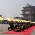 <p> Lễ kỷ niệm được bắt đầu bằng nghi thức bắn 70 loạt đại bác, tượng trưng cho lịch sử 70 năm hình thành và phát triển của nước Trung Quốc mới. Ảnh: <em>Tân Hoa Xã.</em></p>