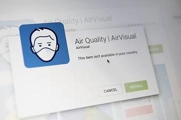 AirVisual biến mất trên kho ứng dụng tại Việt Nam