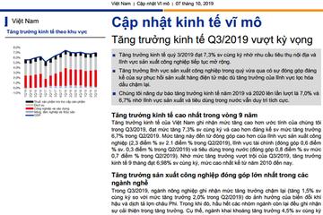 VNDS: Tăng trưởng kinh tế quý III/2019 vượt kỳ vọng