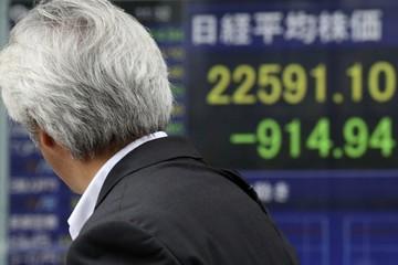 Chứng khoán châu Á giảm mạnh nhất một tuần