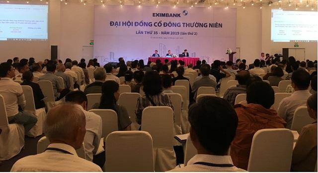 Họp ĐHCĐ thường niên 2019 của Eximbank. Nguồn: Người Lao Động.