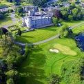 """<p class=""""Normal""""> <strong>7. Dromoland Castle Hotel &amp; Country Estate</strong></p> <p class=""""Normal""""> Địa điểm: Co. Clare, Ireland</p> <p class=""""Normal""""> Giá khởi điểm/đêm: 275 USD</p> <p class=""""Normal""""> Dromoland Castle, ngôi nhà của gia đình O'Brien nổi tiếng có từ thế kỷ 16 trở thành một khu nghỉ dưỡng vào những năm 1960. Các hoạt động phổ biến tại đây bao gồm cưỡi ngựa và bắn cung. Ngoài ra còn có một spa đầy đủ dịch vụ và một sân golf. (Ảnh: <em>Dromoland</em>)</p>"""