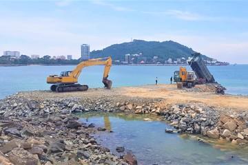 Hiện trường dự án lấp biển xây thủy cung ở TP Vũng Tàu trước 16/10
