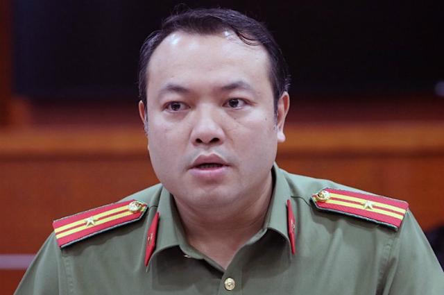 Ông Nguyễn Hữu Đức - Phó giám đốc Công an tỉnh Hoà Bình. Ảnh: Võ Hải