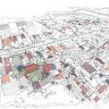 <p> Địa điểm xây dựng là khu vực đông dân cư. Khoảng đất của chủ nhà có diện tích 290 m2, rộng hơn so với nhiều mảnh xung quanh.</p>
