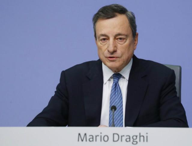 Chủ tịch ECB Mario Draghi. Ảnh: Reuters.