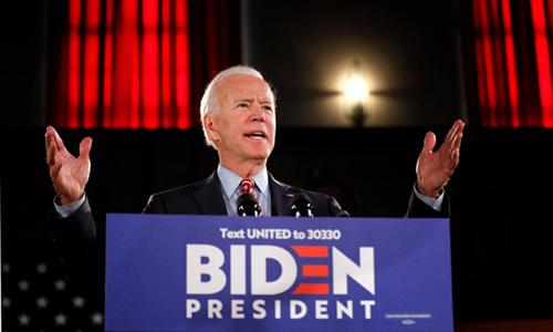 Ứng viên tổng thống đảng Dân chủ Joe Biden phát biểutrong cuộc vận động tranh cử ở bang Pennsylvania hôm 23/10. Ảnh: Reuters.