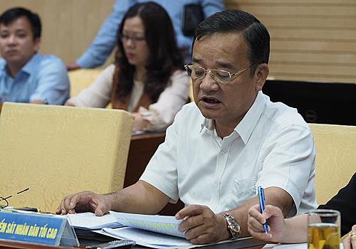 Ông Lại Anh Tuấn, đại diện Viện kiểm sát Nhân dân Tối cao. Ảnh: Anh Tú