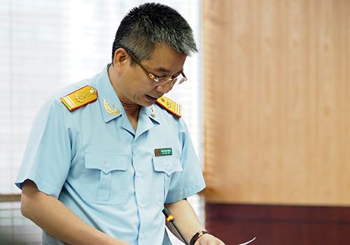 Phó cụ trưởng Hải quan Mai Xuân Thành. Ảnh: Anh Tú