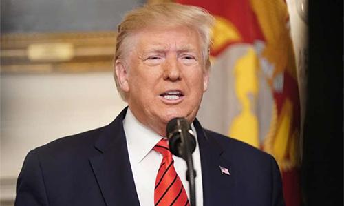Tổng thống Mỹ Donald Trump phát biểu tại Nhà Trắng ngày 27/10. Ảnh: Reuters.