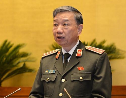 Đại tướng Tô Lâm - Bộ trưởng Bộ Công an. Ảnh: Trung tâm báo chí Quốc hội