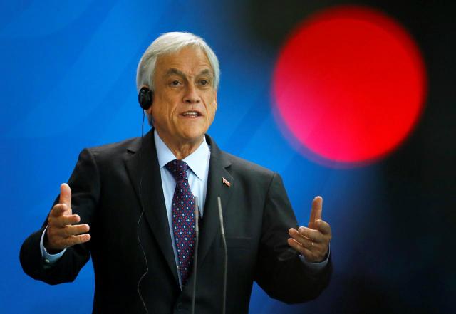 Tổng thống Chile Sebastian Pinera. Ảnh: Reuters.