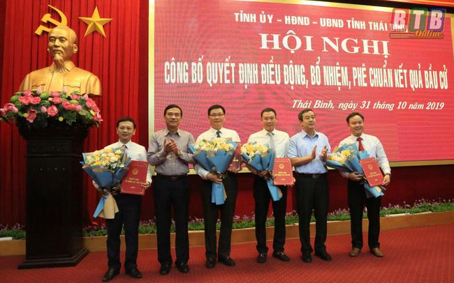 Thái Bình điều động, bổ nhiệm nhiều lãnh đạo chủ chốt