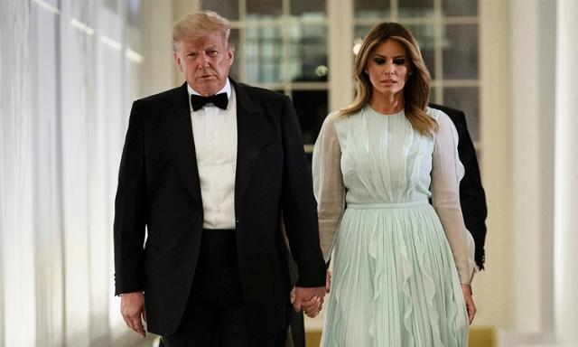 Tổng thống Mỹ Donald Trump và Đệ nhất phu nhân Melania. Ảnh: AFP.