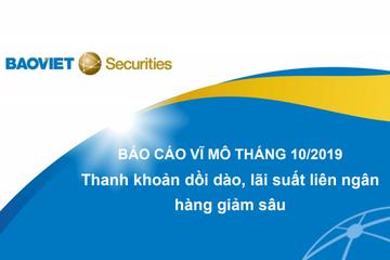 BVSC: Báo cáo vĩ mô tháng 10 - 'Thanh khoản dồi dào, lãi suất liên ngân hàng giảm sâu'