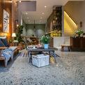 """<p class=""""Normal""""> Mỗi phòng được thiết kế theo một cấu trúc riêng biệt với phong cách mộc mạc, tự nhiên.</p>"""