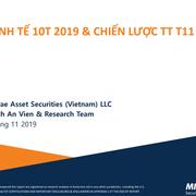 CK Mirae Asset Việt Nam: Báo cáo kinh tế tháng 10 và chiến lược tháng thị trường tháng 11