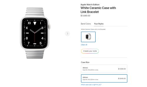 Phiên bản Apple Watch với dây gốm trắng có giá lên tới 1.600 USD. Ảnh: Phone Arena