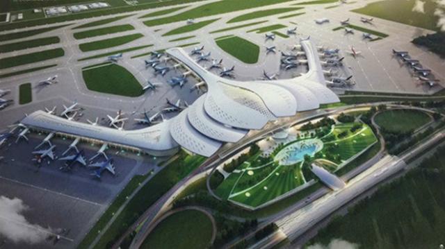Mô hình cảng hàng không quốc tế Long Thành. Ảnh: TP