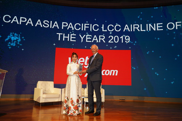 Vietjet đạt giải thưởng Hãng hàng không chi phí thấp tại châu Á Thái Bình Dương 2019