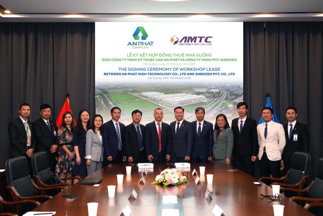 Buổi lễ ký kết giữa APH và MTC Shenzen