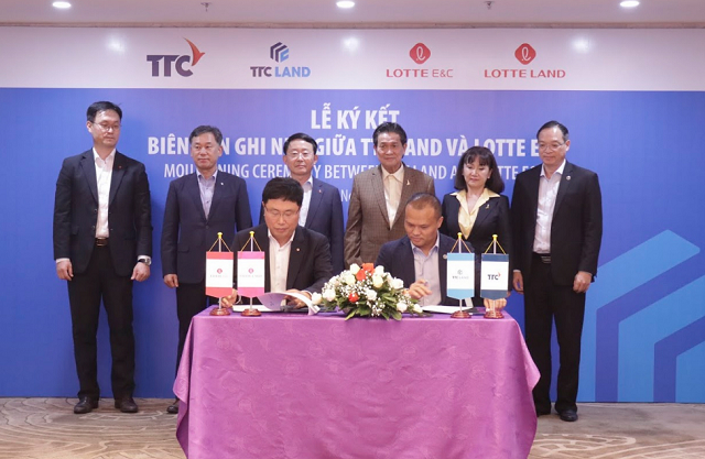 Lotte E&C sẽ đầu tư 100 triệu USD cùng TTC Land phát triển dự án
