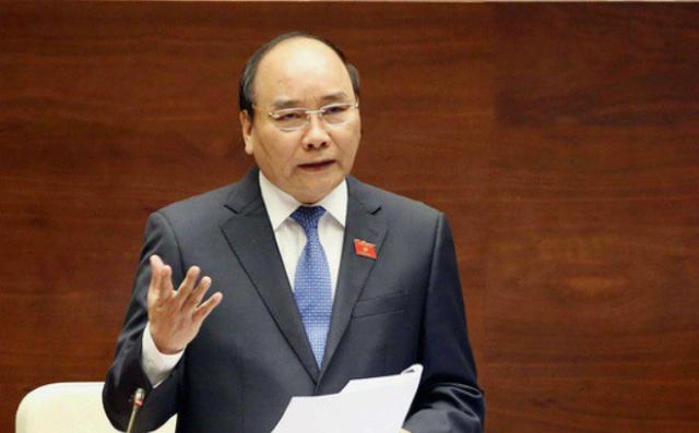 Thủ tướng Nguyễn Xuân Phúc. Ảnh: Trung tâm báo chí Quốc hội